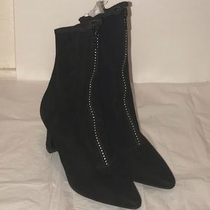St. John suede crystal booties mismatched 5.5-6.5
